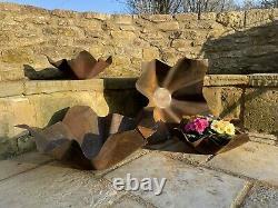 Unique Corten Steel Fire Pit Mid Century Sculptural Design by Flaneurs Firepit