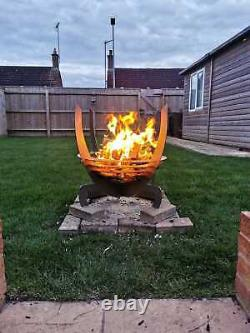 Unique Fire Pit! Flat Pack -Garden- No Tools Required -Slot Together- Outdoor