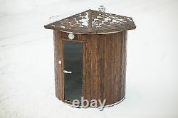 VERTICAL SAUNA Outdoor wooden garden sauna, better than barrel HARVIA WOOD FIRED