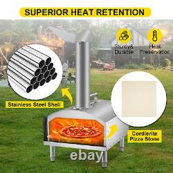 VEVOR Wood Fired Oven Portable Pizza Oven 12 Pizza Oven Outdoor with Fast Heating