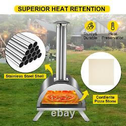 VEVOR Wood Pellet Fired Pizza Oven Portable Garden Outdoor with12 Pizza Stone