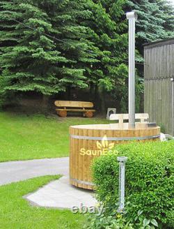 Wooden Hot Tub Wood Fired Hot Tub Spa Outdoor Bath Barrel Wood Burning Hot Tub