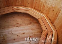 Wooden Hot Tub Wood Fired Hot Tub Spa Outdoor Bath Barrel Wood Burning Ofuro