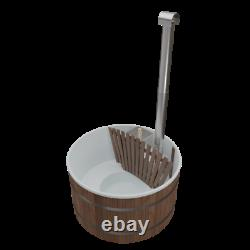 Wooden Hot Tub Wood Fired Spa Outdoor Bath Barrel Wood Burning PE moulded shell