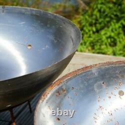 100cm MILD Steel Fire Pit Burner Bowl Garden Heater Camping Rust Bonfire Accueil
