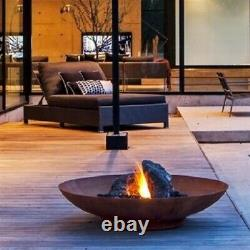 120cm Corten Steel Fire Pit/fire Bowl/garden Burner/patio Heater/water Bowl