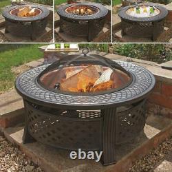 80cm Tall Outdoor Garden Patio / Log Burner / Fire Pit Bbq Copper Effect Bowl