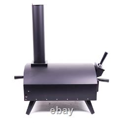 Barbecue-bits Bella Black Wood Fired Outdoor Pizza Oven Barbecue Grill Comme Ooni