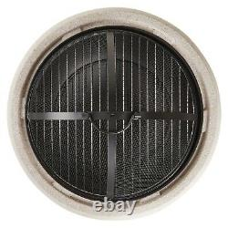 Beautify Round Mgo Fire Pit Avec Bbq Grill Rack, Spark Guard & Poker