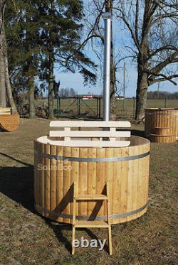 Bois De Bain À Remous En Bois Tiré Bain À Remous Spa Extérieur Bain Extérieur Baril Bois Brûlant Bain À Remous