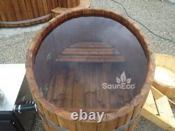 Bois De Bain À Remous En Bois Tiré Hot Tub Spa Extérieur Bain Baril Log Burning Hot Tub
