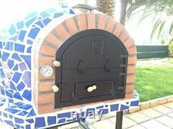 Bois Extérieur Feu Pizza Four Mediterrani Royal Blue Mosaic