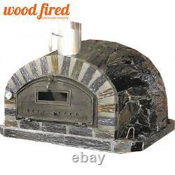 Brique Au Bois Extérieur Cuit Four À Pizza 100cm X 100cm Modèle Rustique-italien
