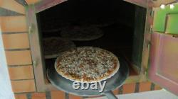 Brique Au Bois Extérieur Cuit Four À Pizza 80cm X 80cm Deluxe Modèle Supplémentaire