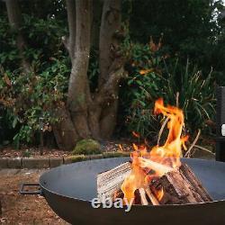 Cast Fer Jardin Fire Pit Jardin Extérieur Back Yard Patio Heater 112cm Noir