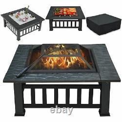 Chauffe-pâte De Feu De Qualité Bbq Firepit Garden Square Table Stove Patio Heater Avec Grill