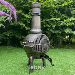 Chimenea Chauffage Extérieur Patio Jardin Fire Pit Burner Bronze Fonte De Fer Chiminea