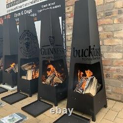 Christmas Gift Fire Pit Garden Chiminea Patio Heater Outdoor Firepit Pyramide