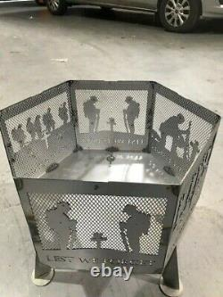 De Peur Que Nous Oublions Soldat Hexagonal Cheminée Finition Naturelle Avec Grill