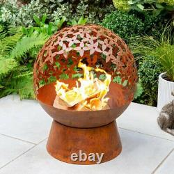 Dunelm Flower Globe Firepit Heater Fire Pit Brand New Fast Delivery