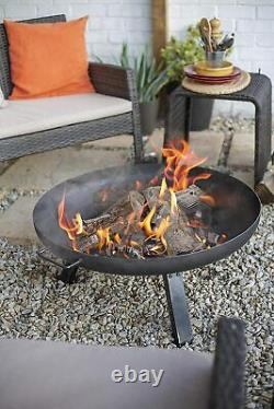 Dwd Heavy Duty Oiled Steel Outdoor Fire-pit Deep Fire Bowl Patio Heater Garden