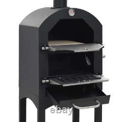 En Extérieur Pizza Four Acier Bbq Fumer Charcoal Bois Feu Barbecue Portable Cooker