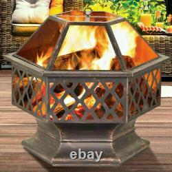 Extra Large Acier Extérieur Fire Pit Bowl Round Patio Fire Outdoor Log Feu De Charbon