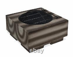 Fire Pit & Bbq Grill Wood Effect Outdoor Garden Mgo Patio Heater Uv Poker Mesh