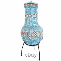 Fire Pit Clay Garden Large Chiminea Outdoor Patio Heater Burner