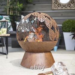 Fire Pit For Garden -la Hacienda Laisse Fire Globe- Patio Heater- Acier Oxydé