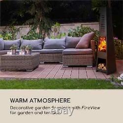 Fire Pit Garden Patio Heater Fire Bowl Outdoor Heating Garden Wood Charcoal