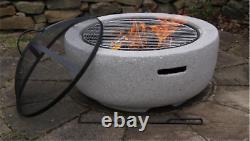 Fire Pit Heavy Large Outdoor Firepit Garden Heater Round Bbq Brazier Grill Bowl