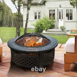 Fire Pit Heavy Large Outdoor Firepit Garden Heater Table Ronde Bbq Brazier&grill