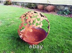 Fire Pit Sphere Butterfly 90cm Diamètre Sphere Fire Pit 6mm Épaisseur En Acier Doux