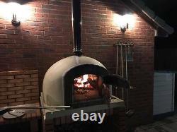 Four Extérieur De Pain De Pizza De Brique Cuite Au Bois 1000mm Des Fours D'amigo