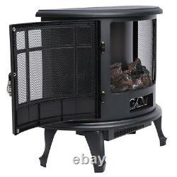 Foyer Électrique Réglable Led Fire Flame Effect Log Wood Burner Chauffe-glace