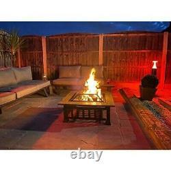 Foyer Extérieur Bbq Firepit Brazier Garden Square Table Poêle Patio Chauffe-glace 81cm