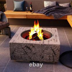 Foyer Extérieur Bbq Grill Bowl Firepit Square Table Stove Garden Patio Heater