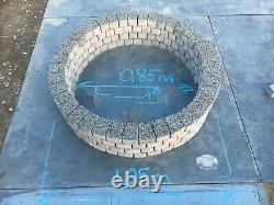 Foyer Gris Clair 105 CM En Granit Dalle Cheminée Jardin Patio Décor Bbq 4 Niveaux