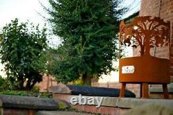 Foyer/métal/cor-ten/foyer/scène De Forêt/royaume-uni Sur Mesure