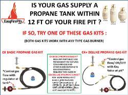Fr12ck Basic Propane Diy Gas Fire Pit Kit & 12 Lifetime Warranted 316 Brûleur