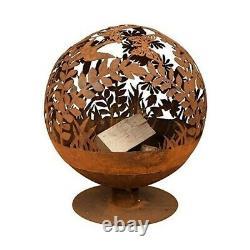 Fruits Tombés Oxydés Meadow Globe Sphere Fire Pit Basket Bol Fonte