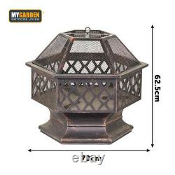 Grand Fire Bowl Fire Pit For Garden Patio Heater Bbq Vintage Design Charcoal
