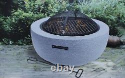Grand Fire Pit Bowl & Bbq Grill Patio Fire Large Fire Pit Extérieur 60cm