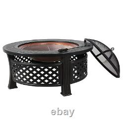 Heatsure Extérieur Multifunctional Fire Pit Garden Bbq Brazier Round Patio Heater