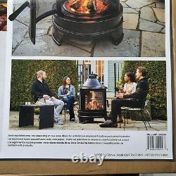 Hello Outdoor Steel Garden Cuisine Bbq Fire Pit Avec Balançoire En Fer Barbecue
