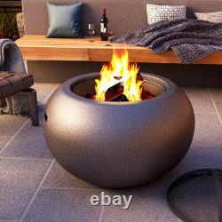 Jardin Extérieur Chauffe-patio Poêle Feu Brazier Bbq Grill Bowl Faux Béton
