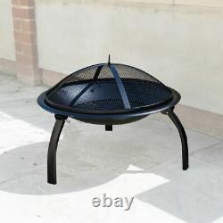 Jardin Fire Pit Outdoor Wood Log Burner Bbq Patio Heater Metal Camping Brazier