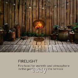 Jardin Fire Pit Rustic Bbq Heater Cheminée Maison Rust Steel Extérieur Wood Burner