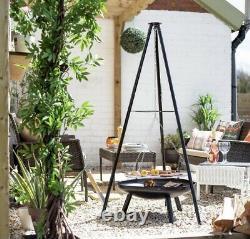 La Hacienda Tripod Set Bbq & Zone De Cuisson Fire Pit Camping Set Garden Heater